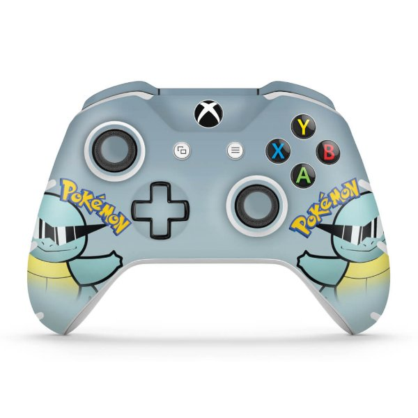 Skin Xbox One Slim X Controle - Pokemon Squirtle