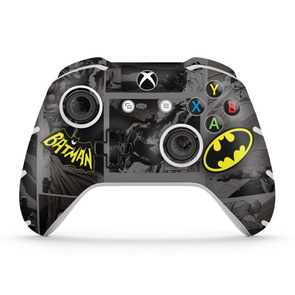 Skin Xbox One Slim X Controle - Batman Comics