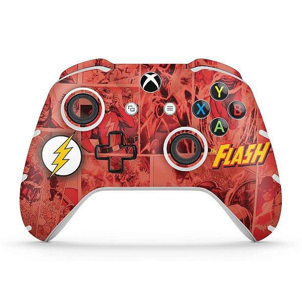 Skin Xbox One Slim X Controle - The Flash Comics