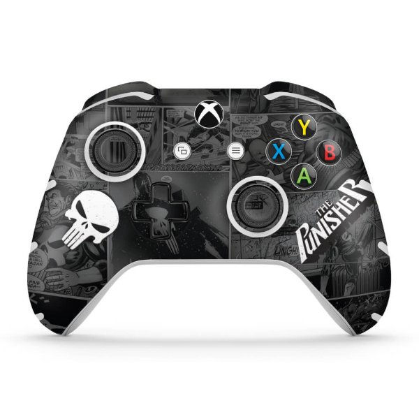 Skin Xbox One Slim X Controle - The Punisher Justiceiro Comics
