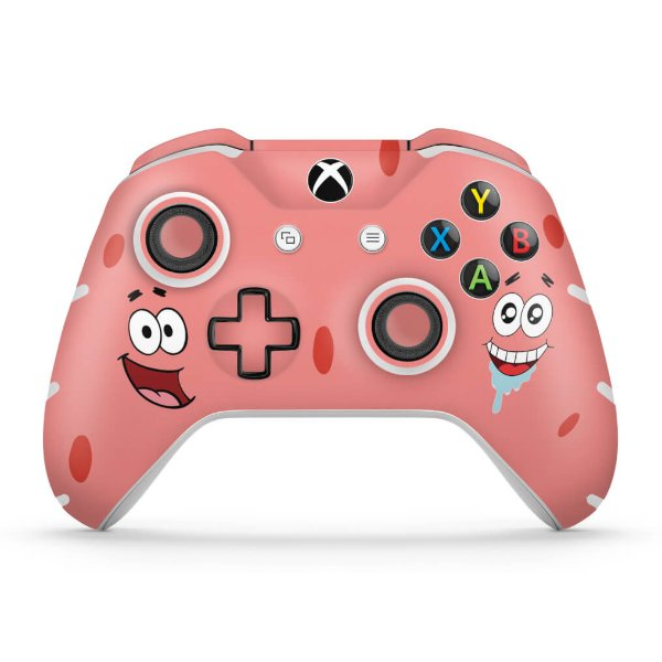 Skin Xbox One Slim X Controle - Patrick Bob Esponja