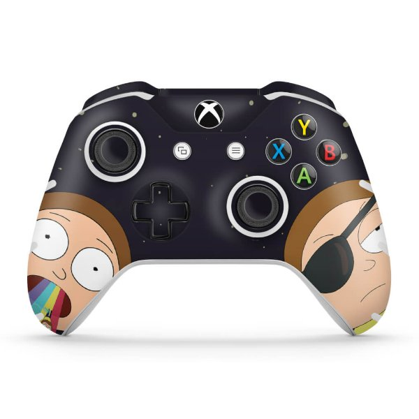 Skin Xbox One Slim X Controle - Morty Rick and Morty
