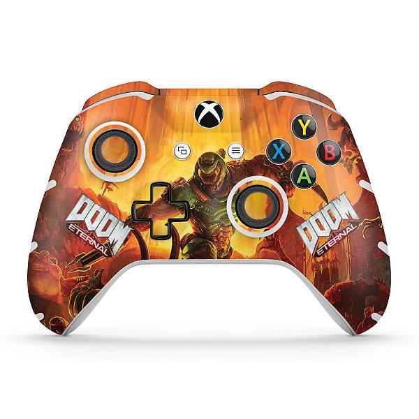 Skin Xbox One Slim X Controle - Doom Eternal