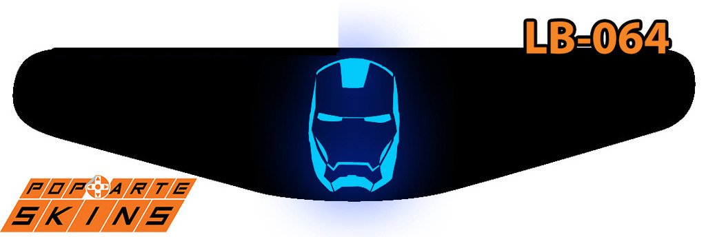 PS4 Light Bar - Iron Man - Homem De Ferro