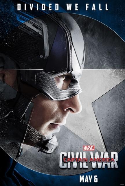 Poster Capitão América: Guerra Civil #B