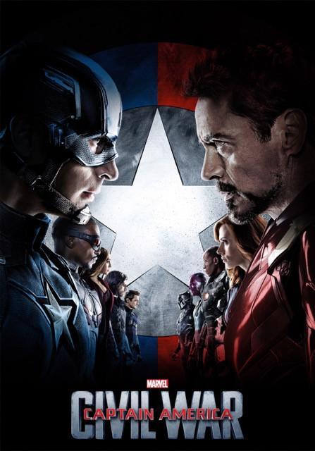 Poster Capitão América: Guerra Civil #E
