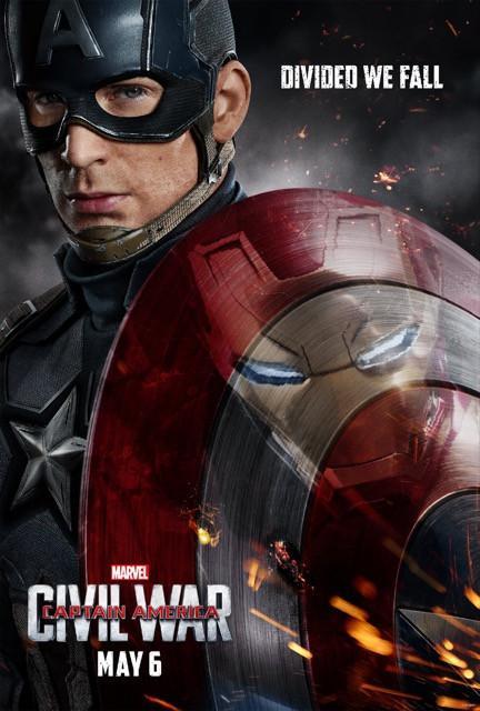 Poster Capitão América: Guerra Civil #H