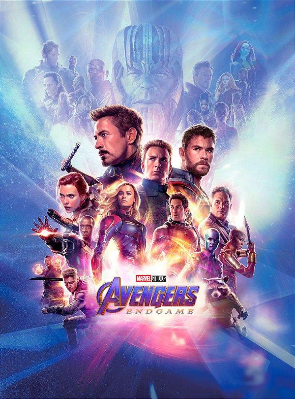 Poster Os Vingadores Ultimato Endgame #E