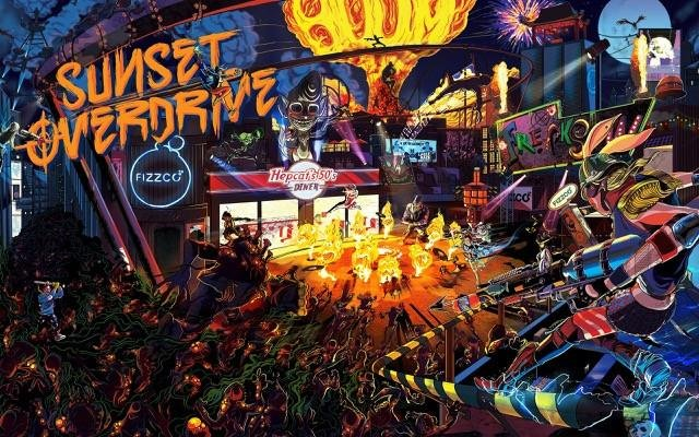 Poster Sunset Overdrive #B