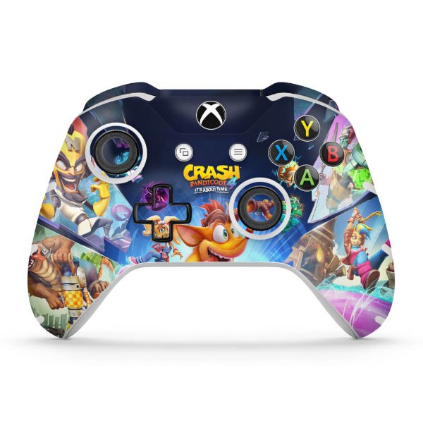Skin Xbox One Slim X Controle - Crash Bandicoot 4