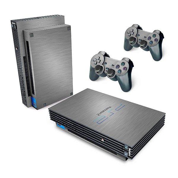 PS2 Fat Skin - Aço Escovado Prateado