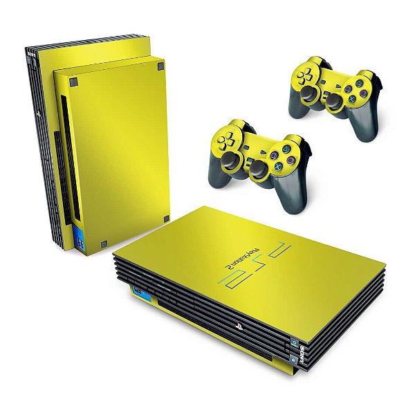 PS2 Fat Skin - Amarelo