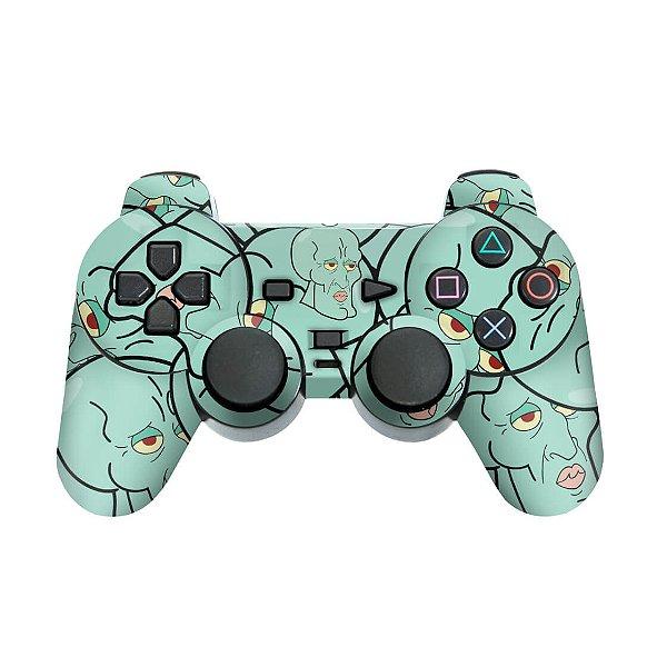 PS2 Controle Skin - Lula Molusco Bob Esponja