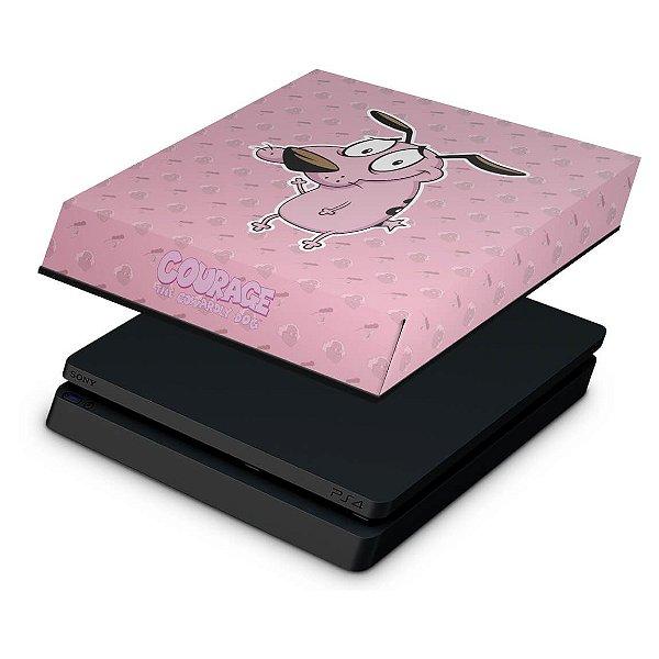 PS4 Slim Capa Anti Poeira - Coragem: O cão covarde