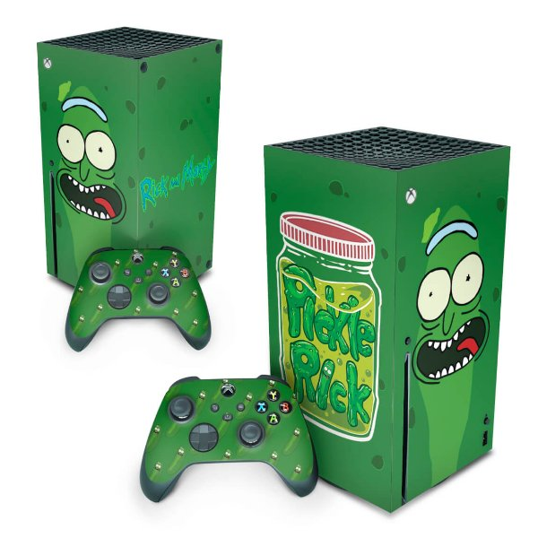 Xbox Series X Skin - Pickle Rick And Morty