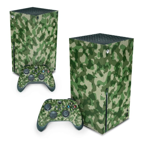 Xbox Series X Skin - Camuflado Verde