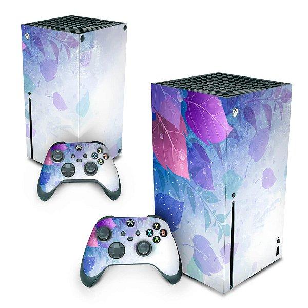 Xbox Series X Skin - Folhas Lilás