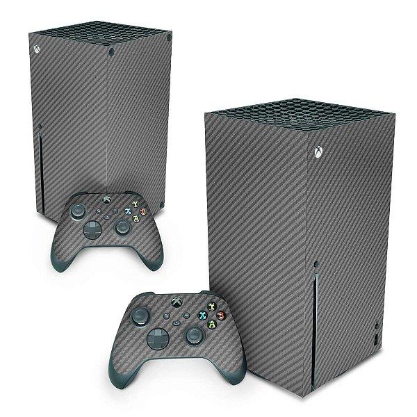 Xbox Series X Skin - Fibra de Carbono Cinza Grafite