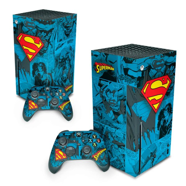 Xbox Series X Skin - Superman Comics
