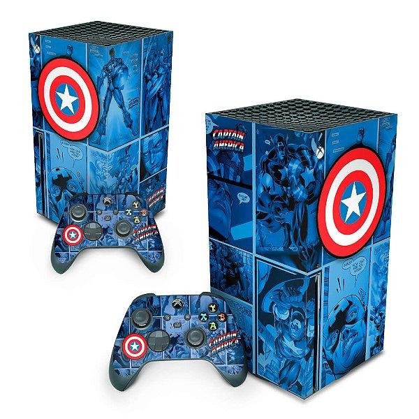 Xbox Series X Skin - Capitão América Comics