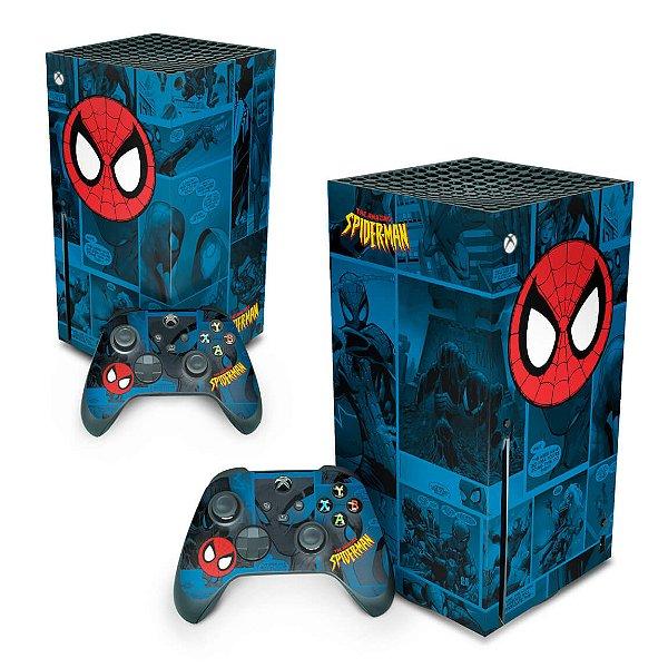 Xbox Series X Skin - Homem-Aranha Spider-Man Comics