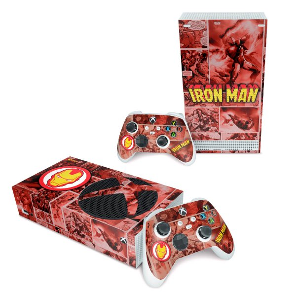 Xbox Series S Skin - Homem De Ferro Comics