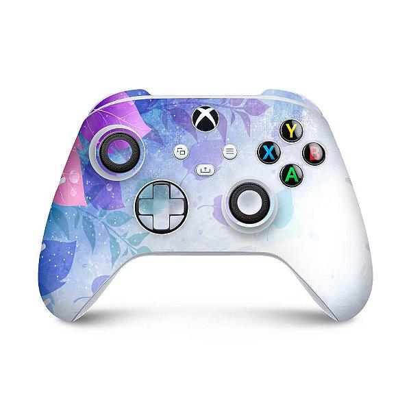 Xbox Series S X Controle Skin - Folhas Lilás