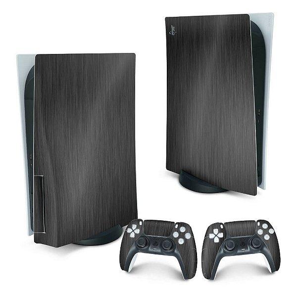 PS5 Skin - Aço Escovado Preto