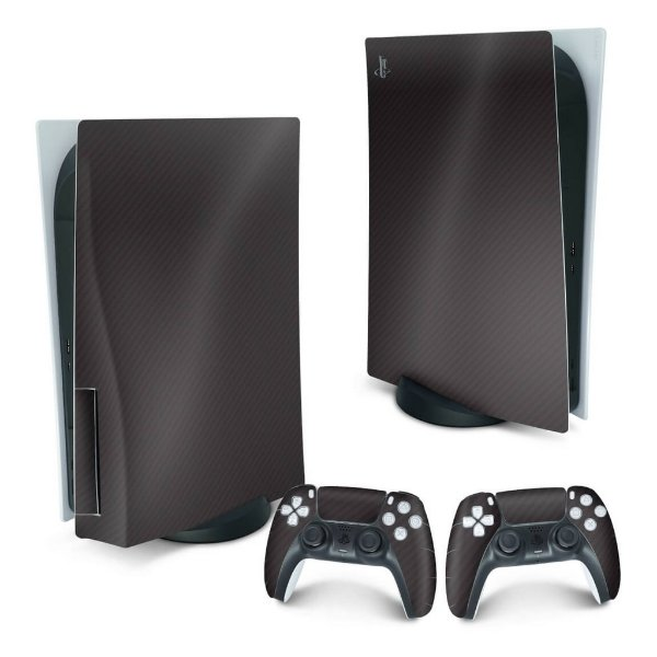 PS5 Skin - Fibra de Carbono Preto