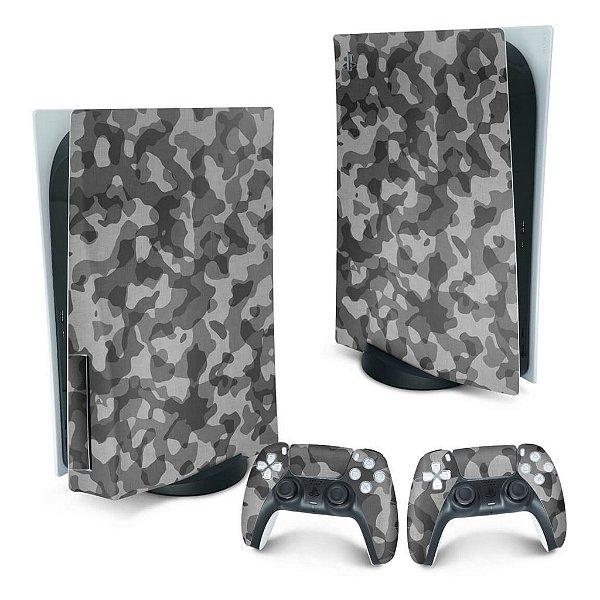 PS5 Skin - Camuflado Cinza