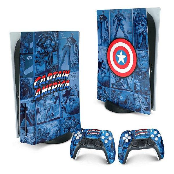 PS5 Skin - Capitão América Comics