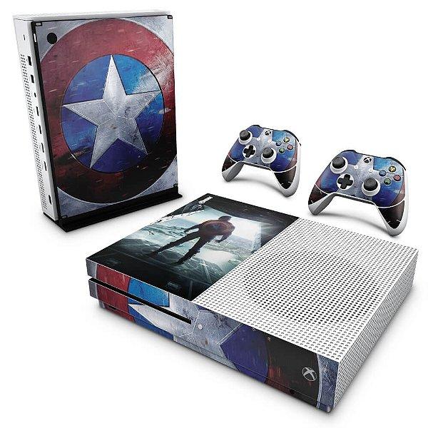 Xbox One Slim Skin - Capitão America