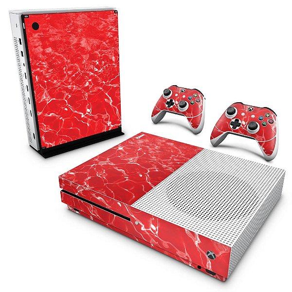 Xbox One Slim Skin - Aquático Água Vermelha