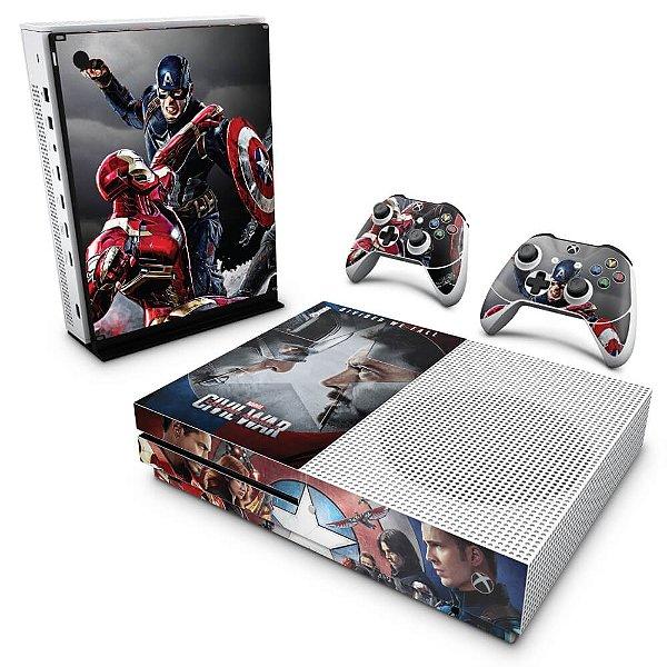Xbox One Slim Skin - Capitão America - Guerra Civil