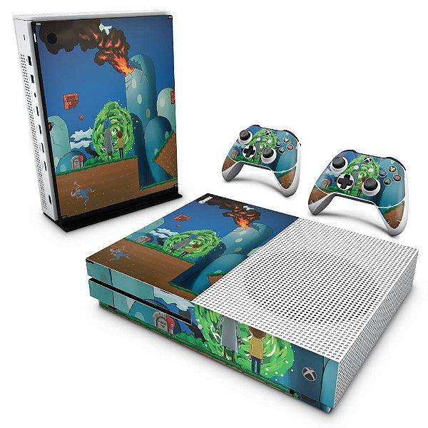 Xbox One Slim Skin - Rick And Morty Mario