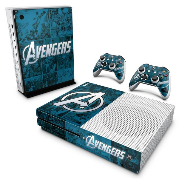 Xbox One Slim Skin - Avengers Vingadores Comics