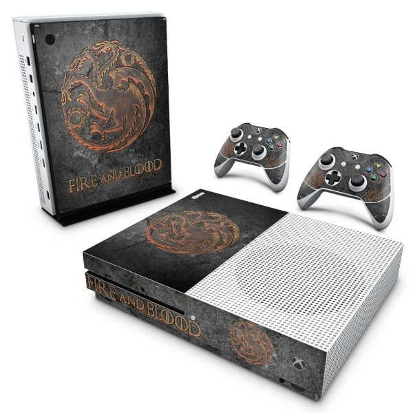 Xbox One Slim Skin - Game of Thrones Targaryen