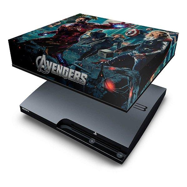 PS3 Slim Capa Anti Poeira - Avengers Vingadores