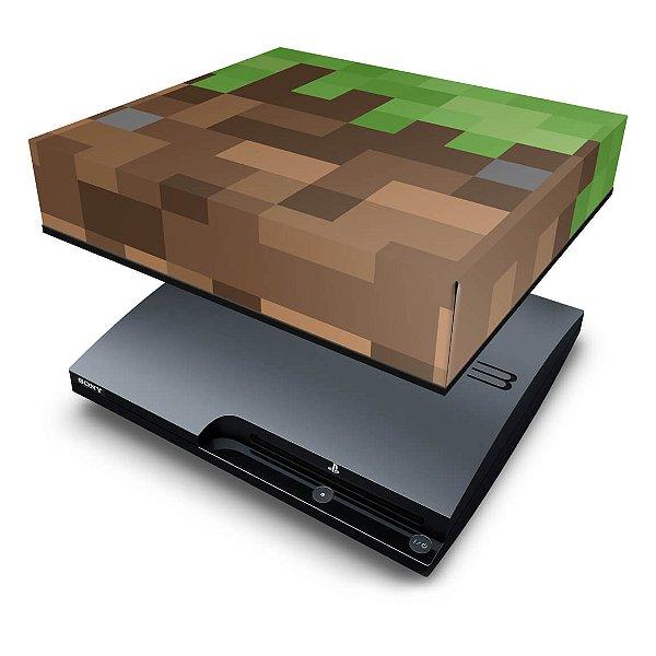 PS3 Slim Capa Anti Poeira - Minecraft