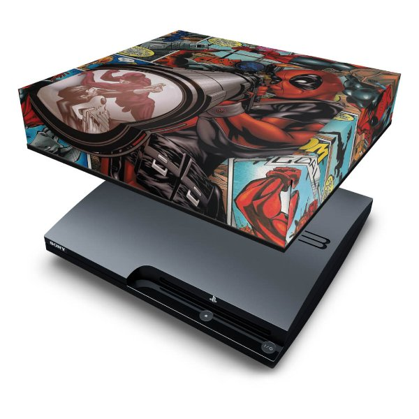 PS3 Slim Capa Anti Poeira - Deadpool