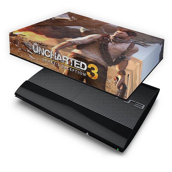 PS3 Super Slim Capa Anti Poeira - Uncharted 3