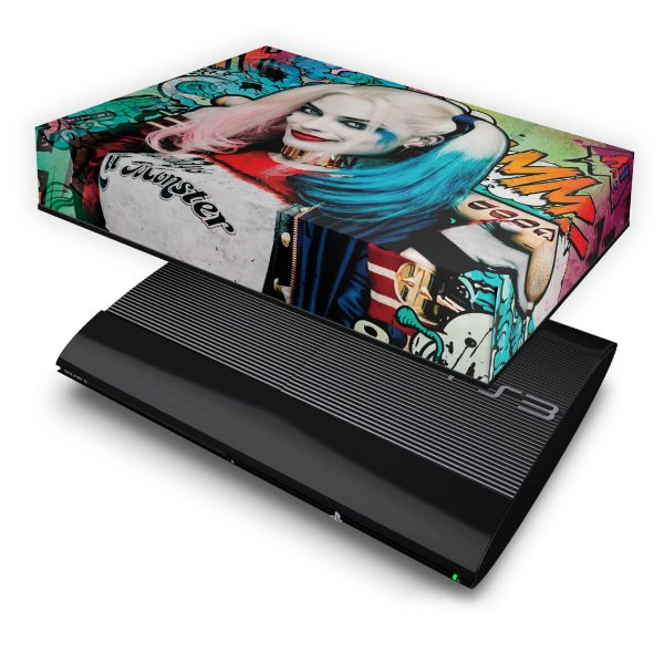 PS3 Super Slim Capa Anti Poeira - Esquadrão Suicida Coringa