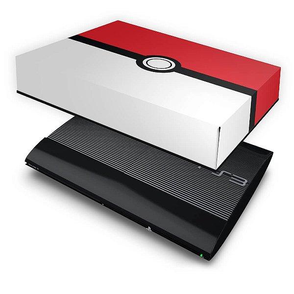 PS3 Super Slim Capa Anti Poeira - Pokemon Pokebola