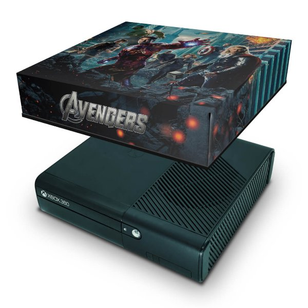 Xbox 360 Super Slim Capa Anti Poeira - Avengers Vingadores