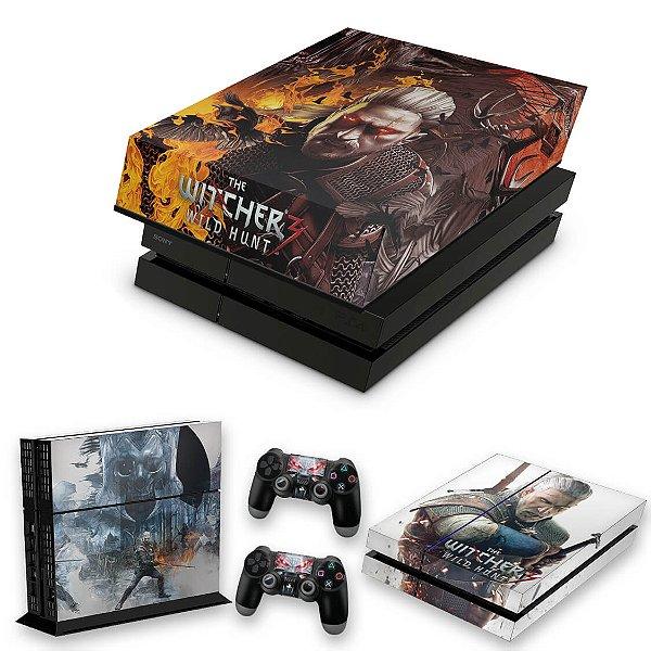 KIT PS4 Fat Skin e Capa Anti Poeira - The Witcher #B