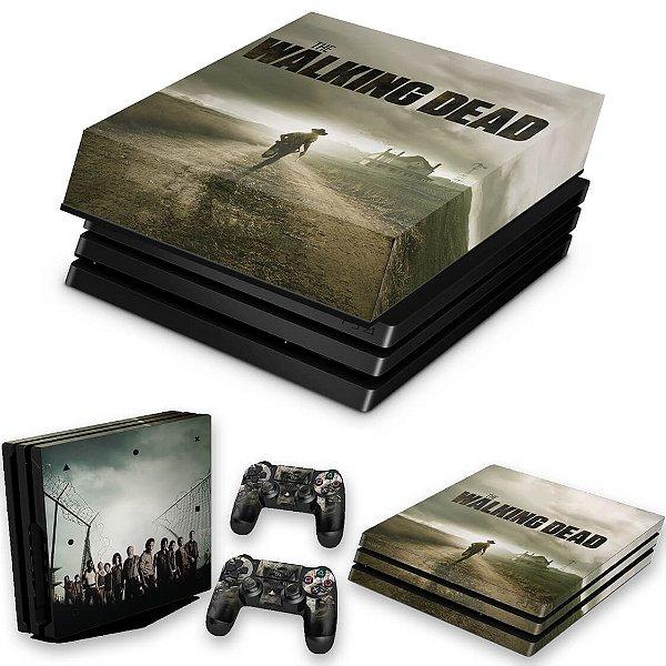KIT PS4 Pro Skin e Capa Anti Poeira - The Walking Dead