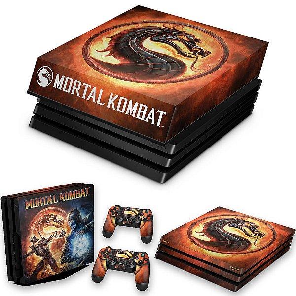 KIT PS4 Pro Skin e Capa Anti Poeira - Mortal Kombat