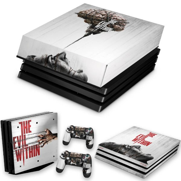 KIT PS4 Pro Skin e Capa Anti Poeira - The Evil Within
