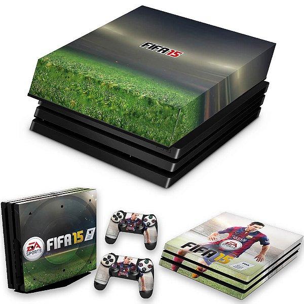 KIT PS4 Pro Skin e Capa Anti Poeira - Fifa 15