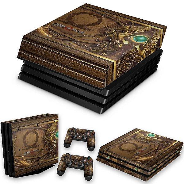 KIT PS4 Pro Skin e Capa Anti Poeira - Pandora'S Box God Of War